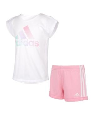 Adidas Originals TODDLER GIRLS DANCE T-SHIRT AND SHORT SET, 2 PIECE