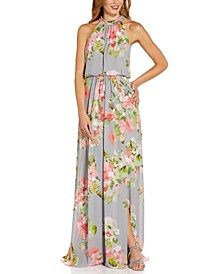 Floral-Chiffon Gown