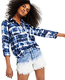 INC Tie-Dyed Satin Blouse, Created for Macy's