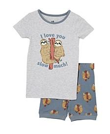 Toddler Boys Ted Short Sleeve Pajama Set