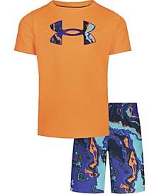 Little Boys Heatmap T-shirt and Swim Shorts Set