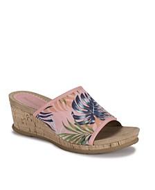 Flossey Wedge Sandal Slides