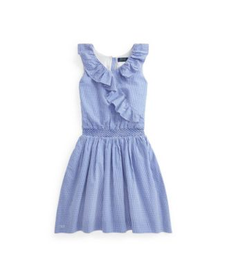 폴로 랄프로렌 Polo Ralph Lauren Big Girls Gingham Seersucker Dress
