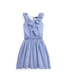 Big Girls Gingham Seersucker Dress