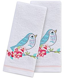"Spring Bird 2-Pc. 11"" x 18"" Fingertip Towel Set, Created for Macy's"