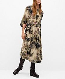 Women's Flowy Flower Printed Dress