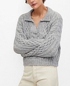 Women's Polo Style Sweater