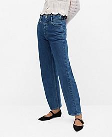 Women's High Waist Straight Jeans