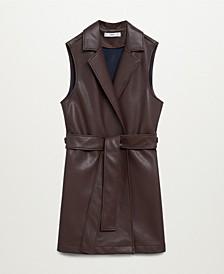 Women's Faux-Leather Gilet
