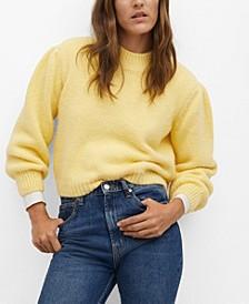 Women's Puffed Sleeves Sweater