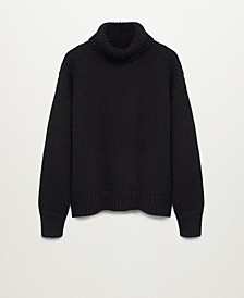 Women's Turtle Neck Wool Sweater