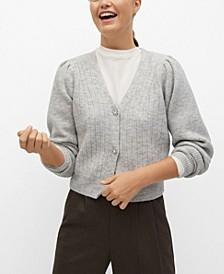 Women's Jewel Button Knit Cardigan