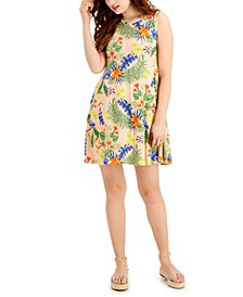 Floral-Printed Sleeveless Knit Dress, Created for Macy's