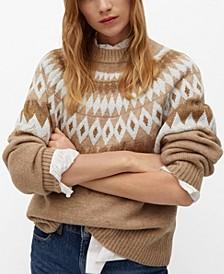 Women's Geometric Jacquard Sweater