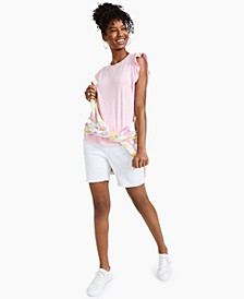 Mixed Media Flutter-Sleeve Top, Created for Macy's