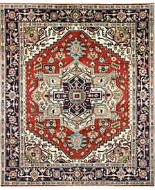 """One of a Kind Indo Herez 7'10"""" x 9'10"""" Area Rug"""