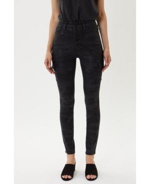Women's High Rise Cargo Skinny Jeans