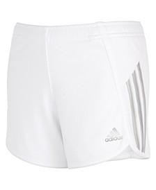 Big Girls Shine Stripe Mesh Shorts