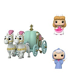 POP! Disney Classic Cinderella Collectors Set - Carriage with Fairy Godmother Ride, Cinderella in Dress, Fairy Godmother
