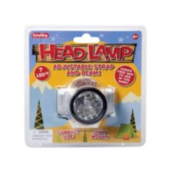 Schylling Led Head Lamp with Adjustable Strap and Beam