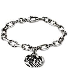 Interlocking G Charm Link Bracelet in Sterling Silver