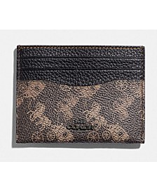 Horse and Carriage Coated Canvas Flat Card Case