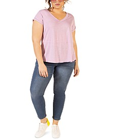 Plus Size High-Low T-Shirt