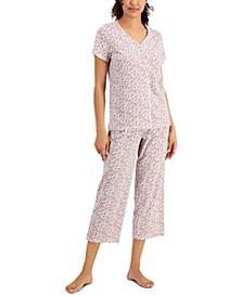 Printed Cotton Capri Pants Pajama Set, Created for Macy's
