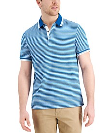 Men's Greenwich Modern-Fit Stripe Polo Shirt, Created for Macy's