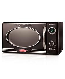 Retro 0.9 Cubic Foot 800-Watt Countertop Microwave Oven
