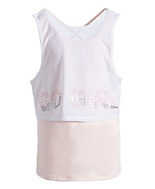 Big Girls Graphic Mesh Twofer Tank Top, Created for Macy's
