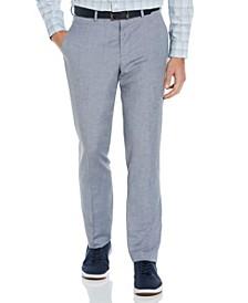 Men's Slim Fit Linen Blend Textured Suit Pant