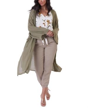 Semi-Sheer Oversized Cardigan