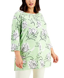 Plus Size Printed Tunic, Created for Macy's