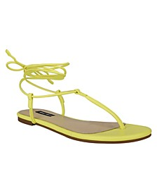 Women's Tella T-Strap Tie-Up Sandals