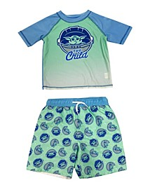 Toddler Boys The Child Rash Guard and Trunk Set