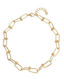 Knotted Link Collar Necklace