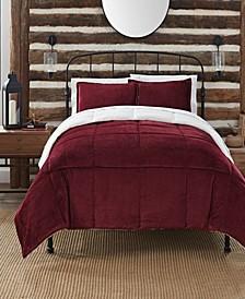 Cozy Plush 3 Piece Comforter Set, Queen
