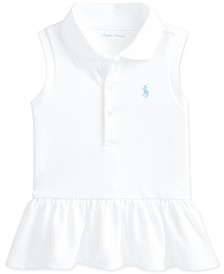 Ralph Lauren Baby Girls Sleeveless Peplum Polo Shirt