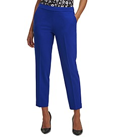 Side-Zip Straight-Leg Pants