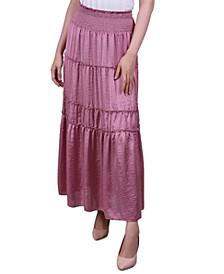 Petite Smocked Tiered Skirt