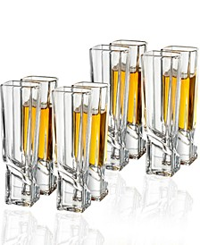 Carre Square Shot Glasses, Set of 8