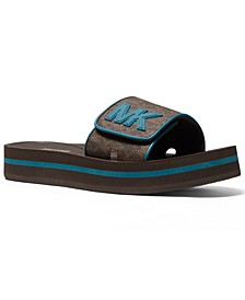 Women's MK Platform Pool Slide Sandals