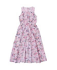Toddler Girls All Over Print Challis Walkthrough Dress