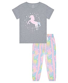 Big Girls Unicorn 2 Piece Long Leg Pajama Set