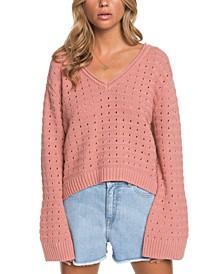 Juniors' Do You Good Flare-Sleeve Sweater
