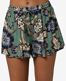 Juniors' Vickie Floral-Print Soft Shorts