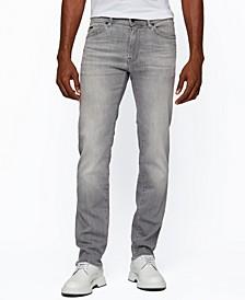 BOSS Men's Grey Regular-Fit Jeans