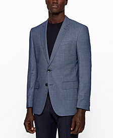 BOSS Men's Patterned Slim-Fit Jacket