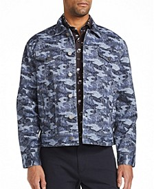 Men's Slim Fit Trucker Jacket with Free Matching Mask